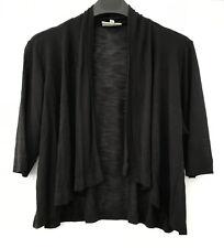 Autograph Size 14 Black Knit Jacket / Lightweight Cardigan