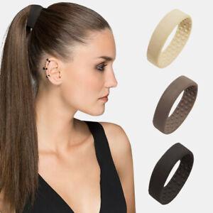 Women Silicone Foldable Stationarity Elastic Hair Bands Headband Ponytail Holder