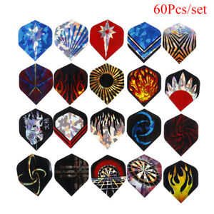 60Pcs 20 Sets Professional Durable PET Dart Flights Dart Tail Darts Access mi