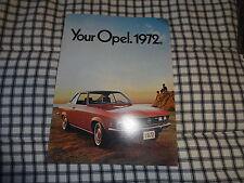 1972 Opel Manta Opel GT  & others full line  original sales brochure NOS