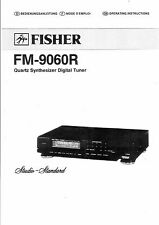 Fisher  Bedienungsanleitung user manual owners manual  für FM- 9060 R