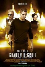 JACK RYAN : SHADOW RECRUIT MOVIE POSTER DS 27x40 CHRIS PINE KEVIN COSTNER 2014