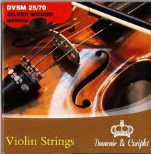 1 Set of New, 4/4 size, Silver Wound, Ball End, Steel, Violin Strings
