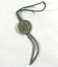 Tie Repro Cowboy Necktie Hankerchief Vintage Morgan Dollar 1879 Concho Bolo