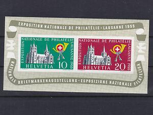 1955 Block 15 Lausanne Briefmarkenausstellung Postfrisch ** € 130,--