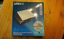 8 X External DVD/CD Writer LITEON eBAU108 - ultra slender BLACK