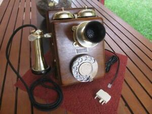 Antique PMG Model 137AW Walnut Wall Telephone c.1930's
