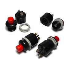 4x Telefon-/Prüf-Taster, 1-polig EIN, 14 mm Einbau-Durchmesser, 220V / 1A, NOS