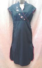 Dorothy Perkins black cotton dress size 10 Chinese cheongsam cos play