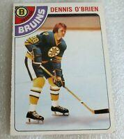 1978-79 O Pee Chee #104 Dennis O'Brien Boston Bruins! OPC printed signature card