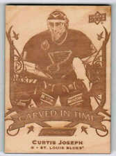 19/20 2019 UD ENGRAINED CURTIS JOSEPH CT-11 CARVED IN TIME WOOD ST LOUIS BLUES