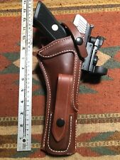 "Fits Ruger Mark Mk III IV 22Auto 6"" - 6.88"" w Red Dot Sight Leather Holster"