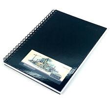A4 Sketch Book Spiral Bound Hardback Pad White Cartridge Paper - Black