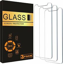 [3-Pack] iPhone 7 8 Plus X XS XR XS Max Premium Tempered Glass Screen Protector