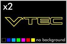 (2) Vtec Outline Sticker Vinyl Decal Car Window Honda Acura Civic JDM Emblem