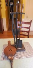 Set of Vintage Brass and Iron Fireplace Tools w/ Bellows