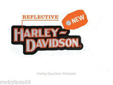 "Harley-Davidson® Block H-D Name ""Reflective"" Small Patch  • 5""W x 2""H RETIRED!!!"
