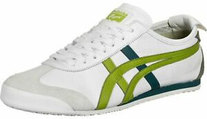 Onitsuka Tiger Mexico 66 White Green Mens Leather Trainers