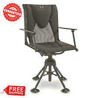 Hunting Blind Chair With Armrests Swivel Portable Deer Hunting Hunt Camping Seat