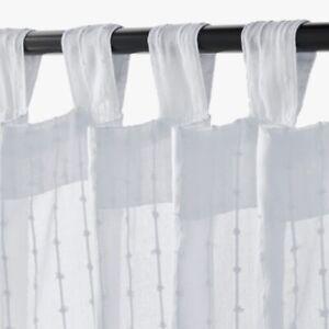 "NEW Ikea Matilda Sheer Curtains 2 panels 1 pair White 55x98"" COTTON 101.119.84"