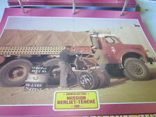 Super trucks difficile les trains routiers MISSION BERLIET tenéré 1959