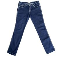 Wakee Size 12 Dark Blue Jeans Mid Rise Straight Leg Jeans