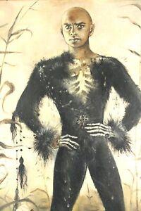 MONIQUE ALIKA WATTEAU / LINDBERGH (BE. *1929) Yul Brynner, 1961, Öl/Lwd