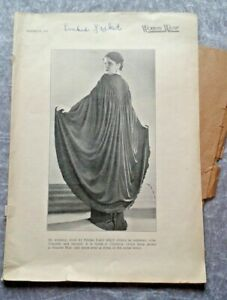 Women's Wear 27th August 1937 - Pages 587-598 with Original Drafting Paper