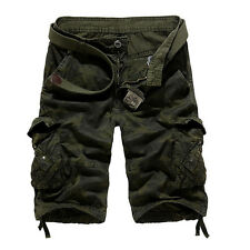 Military Men's Casual Cargo Pants Combat Camouflage Camo Army Trousers Shorts