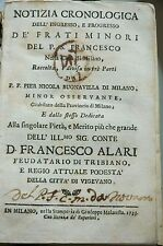 NOTIZIA CRONOLOGICA 1733 BY BUONAVILLA. CONCERNING THE FRANCISCANS. VELLUM