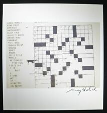 "Andy Warhol, Signed Special Print ""Crossword"", 1964.  Hand signed with COA."