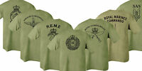 Double Sided Printed Army Olive Green Tshirt - HMRC Para REME RGR RMC SAS RE