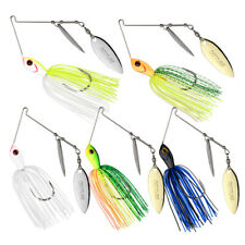 Goture 5pcs/lot Spinner Bait Fishing Lures Double Willow Blade Crankbaits Bass