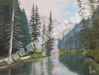 "Original Oil Painting ""Alpine Reflection"" 18""x 24"" Oil on Canvas - framed"