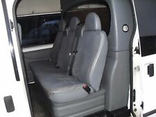 FORD TRANSIT MK7 2006+ DOUBLE CAB  VAN SEAT COVERS  BLACK QUILTED A120A