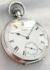 Waltham Vanguard Silver 23J Gents Pocket watch. *(FULL WORKING ORDER)* *1924*