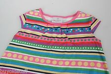 Hanna Andersson Colorful Striped Polka Dot Summer Dress Size 4