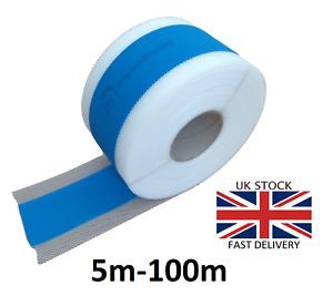 5m - 100m AQUA BUILD Waterproof Tanking Tape Wet Room System Bath Shower 1-blue