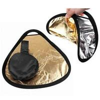 New 2in1 30cm Gold/Silver Portable Folding Handheld Photograph Reflector  O