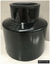 """Waste Pipe to Soil Pipe Adapter Cap Pipe Reducer 110mm to 50mm (55mm) 2"""" Black"""