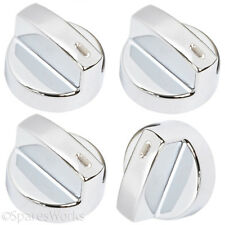LEISURE Genuine Oven Cooker Temperature Hob Switch Knobs Silver x 4