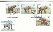 Laos 1987 Elephants FDC Unadressed VGC