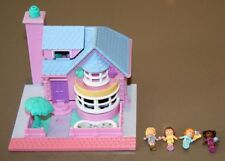 Rare 1993 Polly Pocket BAY WINDOW HOUSE POLLYVILLE Bluebird Lights Up Complete