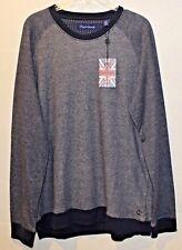 English Laundry Mens Blue Crewneck Cotton Casual Sweater NWT $75 Size XXL 2XL