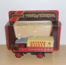 "Matchbox MODELS OF YESTERYEAR Y8-5.A3 1917 YORKSHIRE STEAM WAGON ""JOHNNIE WALKER"