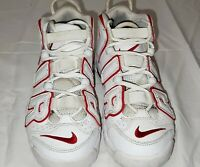 Nike Air More Uptempo, White/Red, 415082-108 Rare Size 4.5Y
