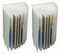2x Transparent Plastic Insert ID Card Photo Replacement Holder Hipster Wallet