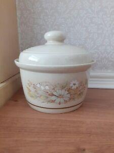 "Vintage Royal Doulton ""Florinda"" Casserole Dish with lid 18 cm diam."