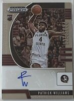 Patrick Williams 2020-2021 Panini Prizm Draft Picks Base Autograph Auto Rookie