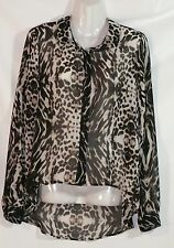 HOT OPTIONS ANIMAL PRINT SHEER BLOUSE - SIZE 12